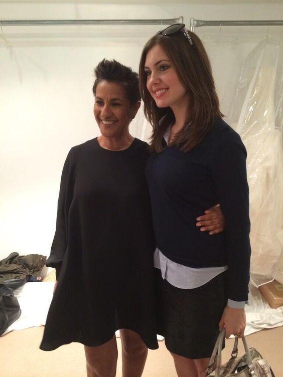 Miss USA Erin Brady meets Designer Amsale backstage @Amsale Bridal runway show