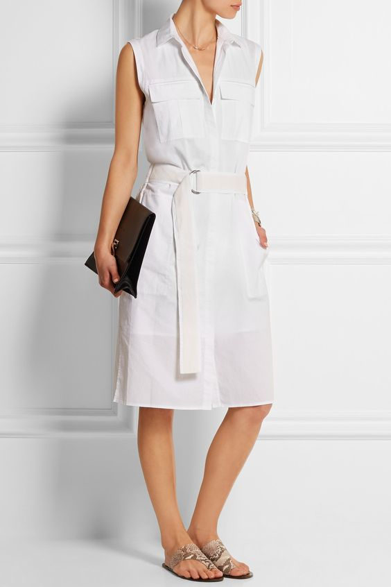 sleeveless Style Arc Mara shirt dress
