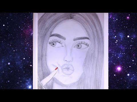 تعليم الرسم بالرصاص رسم بنات كيوت How To Draw Cute Girl For Beginners Step By Step Youtube Pencil Sketch Art Female Sketch