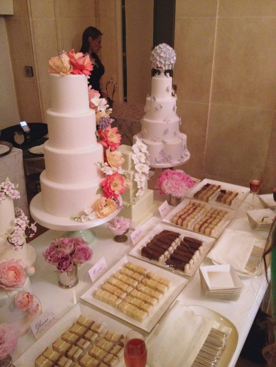 london wedding cake tasting tasting table at the peggy porschen wedding cake launch 16932