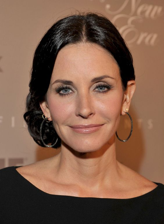 Courtney Cox. wrinkles don't matter but the way you wear make up with them does