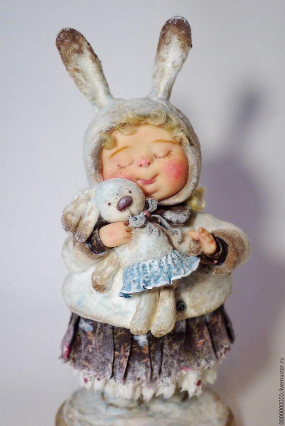 """Рождественский подарок"""" - рождество,  коллекционная кукла, коллекционные игрушки, новогодний подарок:"""