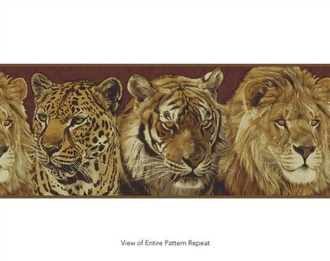Wallpaper borders, Big cats and Tigers on Pinterest