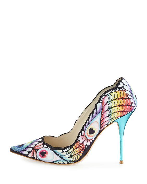 Sophia Webster #peacock #heels #rainbow #shoelust