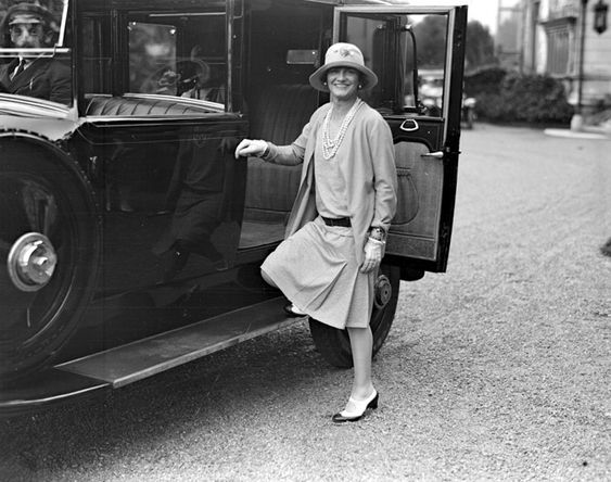 CoCo Chanel in 1928 in her spectator pumps