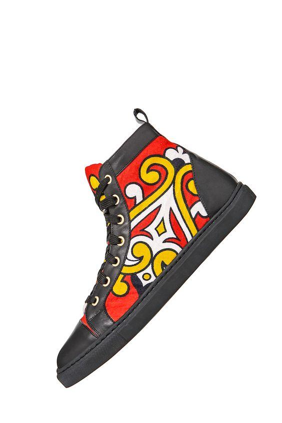 Retrouvez toutes les sélections ethno tendance de CéWax sur le blog : https://cewax.wordpress.com  - You Khanga basket sneakers tissu africain african prints