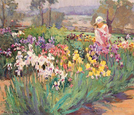 Iris Garden ~ Ada Walter Shulz ~ (American, 1870–1928)
