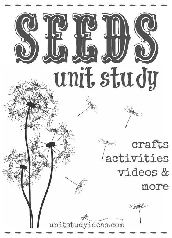 unit studies  study and seeds on pinterest