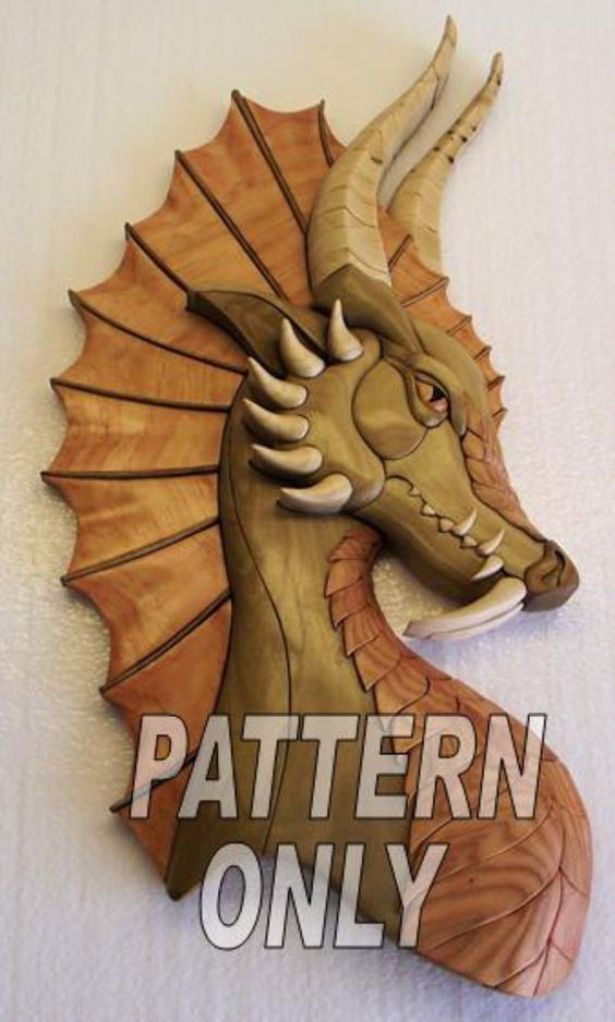 Pattern of dragon w ear intarsia patterns and etsy