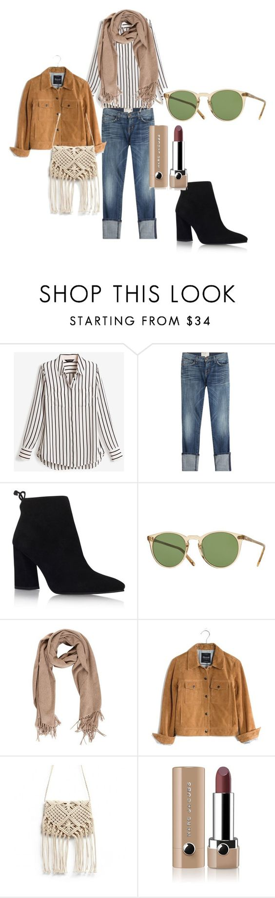 """""""Highway"""" by fashion-classy1 on Polyvore featuring moda, White House Black Market, Current/Elliott, Stuart Weitzman, Oliver Peoples, Madewell y Marc Jacobs"""
