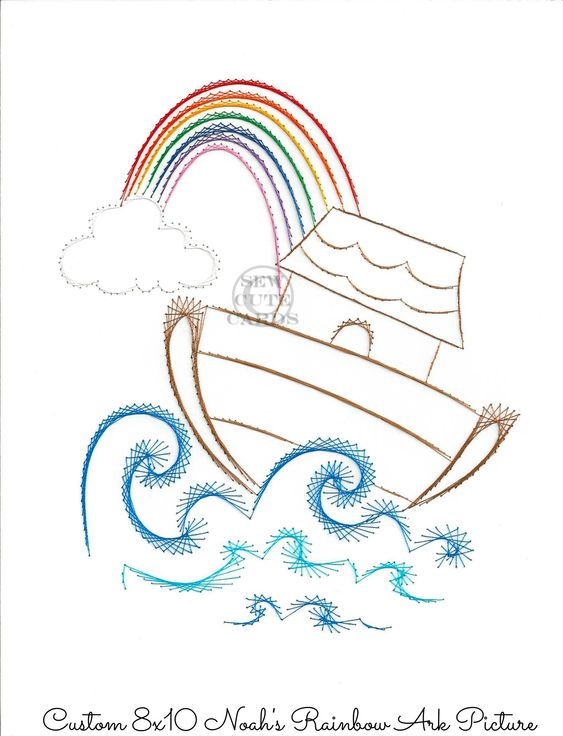 Noahs Ark Picture 8x10 From Sew Cute Cards