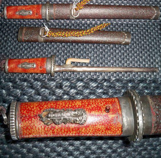 Antique samurai jutte mounted in koshirae.  samuraiantiqueworld.com