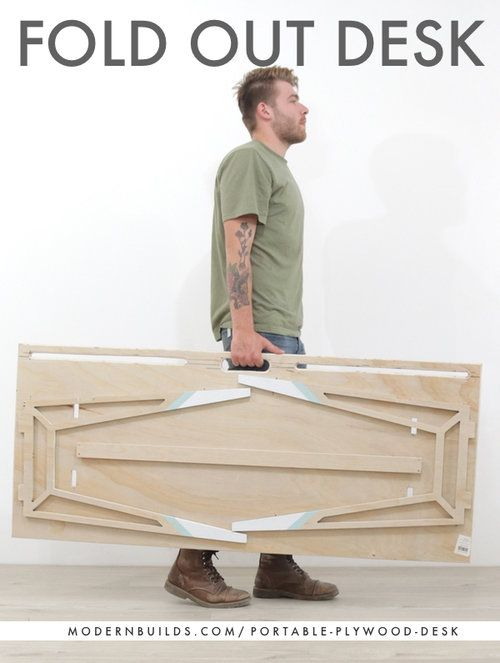 Portable Cnc Desk Built From A Single 3 4 Plywood Sheet Designed By Mike Montgomery Plywood Desk Cnc Furniture Plans Plywood Projects