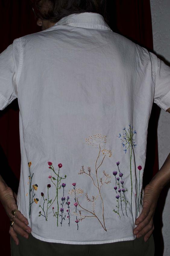 camisa de colegio reciclada