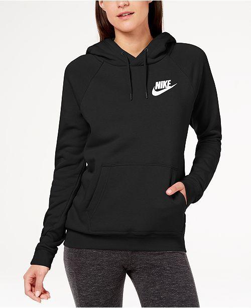 Nike Sportswear Rally Fleece Hoodie - Tops - Women - Macy's ...