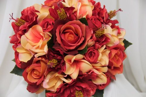Burnt Orange and Red Wedding | My Centerpiece.. Opinions please??