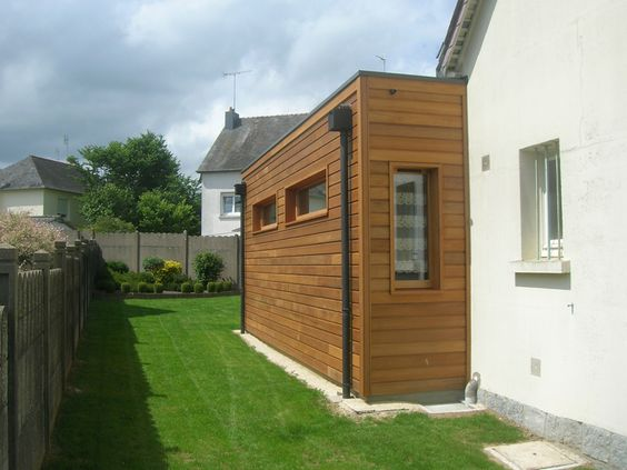 Extensions alsace and saints on pinterest for Extension en bois