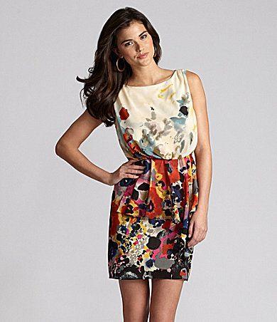 gianni bini - watercolor floral dress