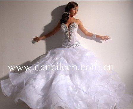 Wr1730 beaded sexy see through corset organza wedding for See through corset wedding dresses