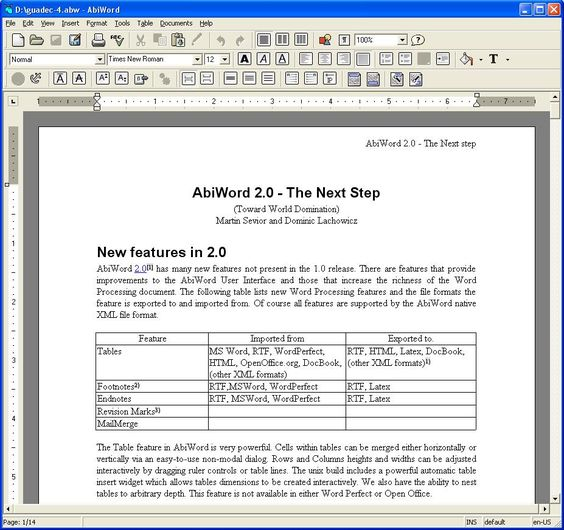 AbiWord is a free word processing program similar to Microsoft - resume templates for openoffice