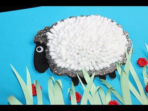 Baranek Z Patyczkow Do Uszu Easter Crafts Crafts Easter