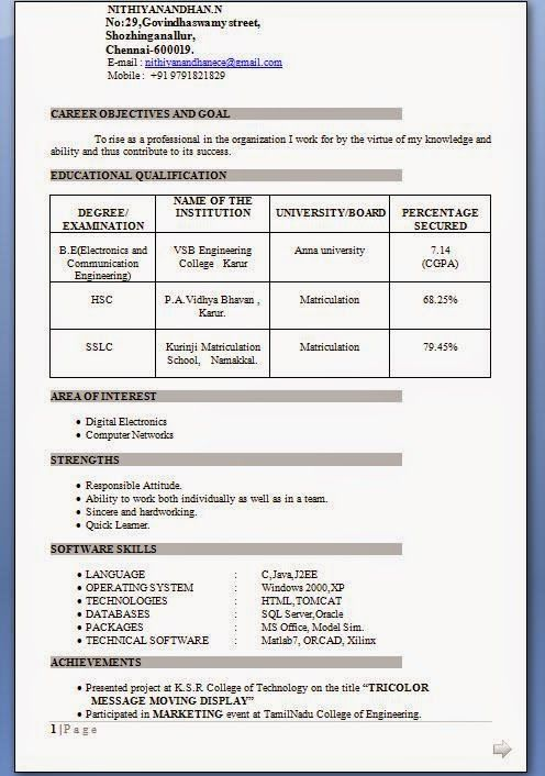 Best Resume Of Electronics And Communication Engineer Fresher Great Best Resume O In 2020 Engineering Resume Mechanical Engineer Resume Engineering Resume Templates