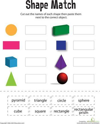 Worksheets: Shape Match