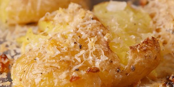 Garlic Smashed Potatoes Cheesy, garlicky, and all you could ever ask for