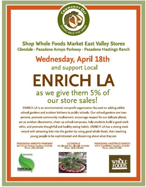 Help support #schoolgardens with our @WholeFoods 5% day!!!