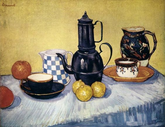 Vincent van Gogh, Still-Life with Coffee Pot, Earthenware and Fruit, 1888, Private collection