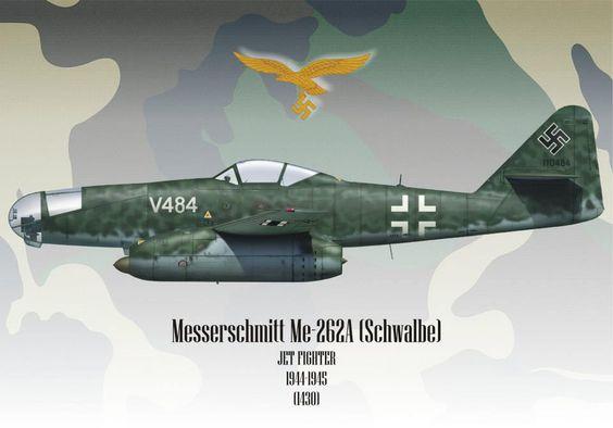 Me-262A-aU2 Wk-Nr. 110484 'White V484' of the Erprobungsstelle, Rechlin, Early 1945