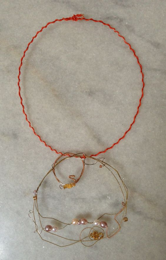 Guitar string necklace by Nicole Royer