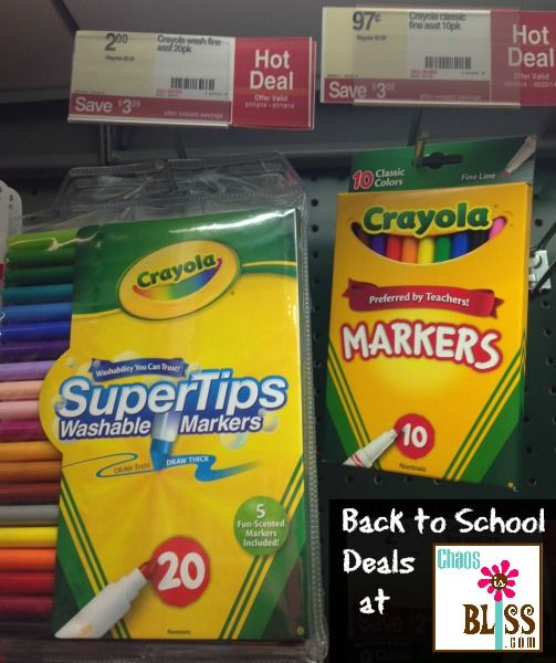 Back-to-school deals - what's free & cheap! ChaosIsBliss.com