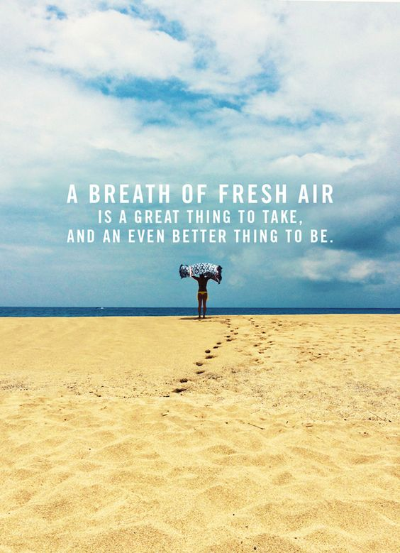 Image result for breath of fresh air quotes