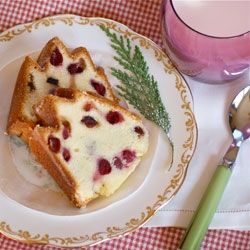 Cranberry Almond Pound Cake with Amaretto Glaze.