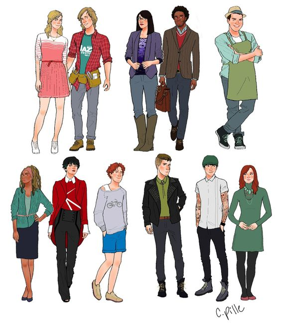 Cartoon Characters Facing Forward : Cartoon characters drawn as adults hey