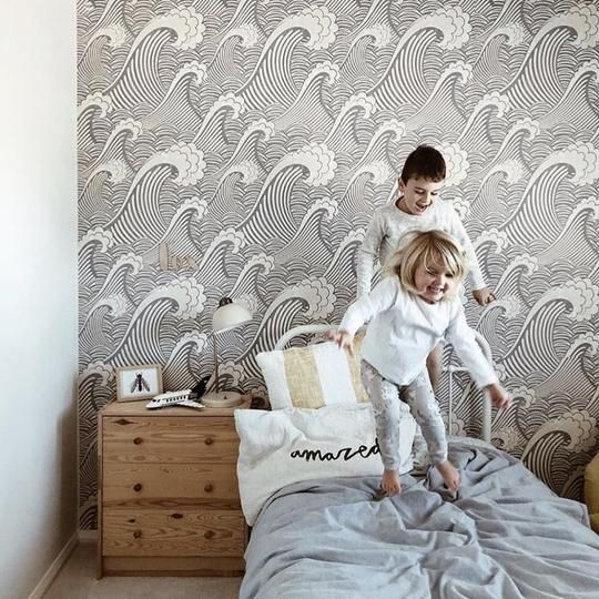 Japanese Wave Wallpaper Peel Stick In 2021 Classic Wallpaper Waves Wallpaper Removable Wallpaper