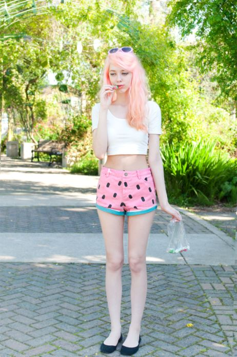 Kailey F. in sweet summer-y shorts. Click to shop the look! #stylegallery