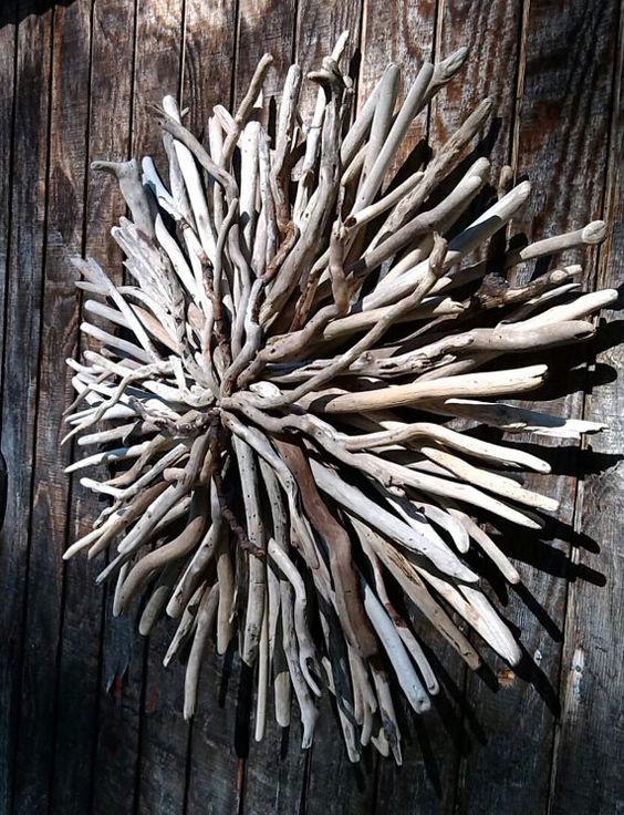 Reserved For Leslie Sunburst Driftwood Art Wall Sculpture