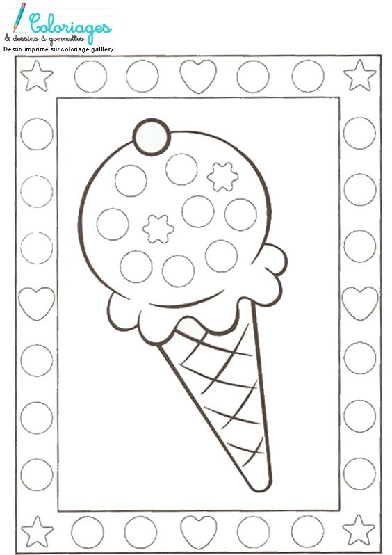 dessin gommettes glace
