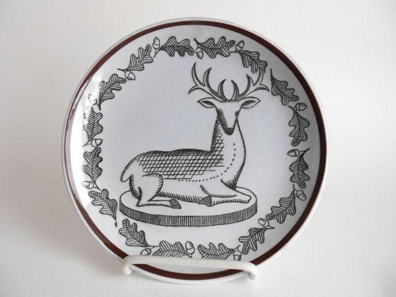 Georges Briard Deer Plate L Epicurien 7350