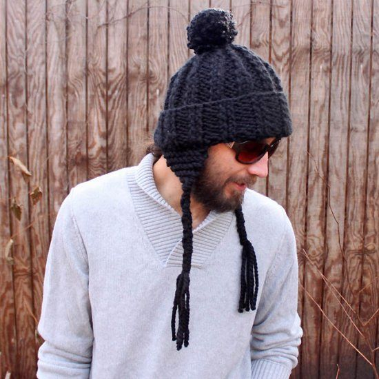 Free Knitting Pattern Hat With Ears : Free knitting pattern for a mens ear flap hat. Great for ...