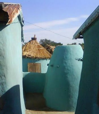 Painted traditional house in the Upper East Region of #Ghana. #Travel #Architecture: