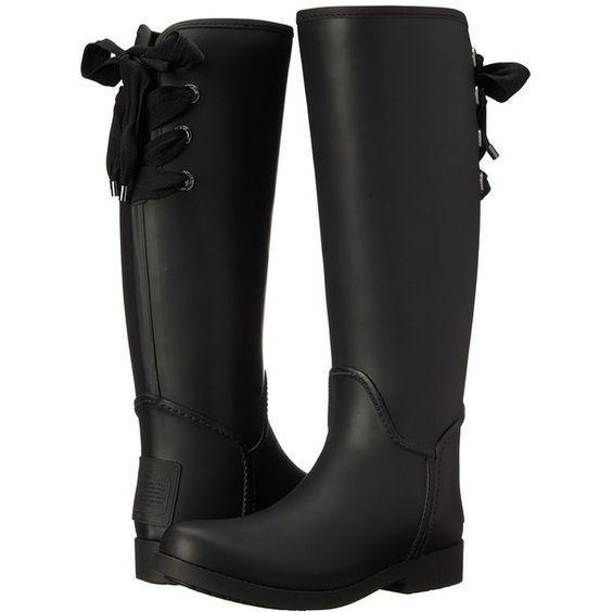 COACH Rain Boots Tristee Corset Bow Tie