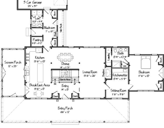 House Plans Side A And Mud Rooms On Pinterest