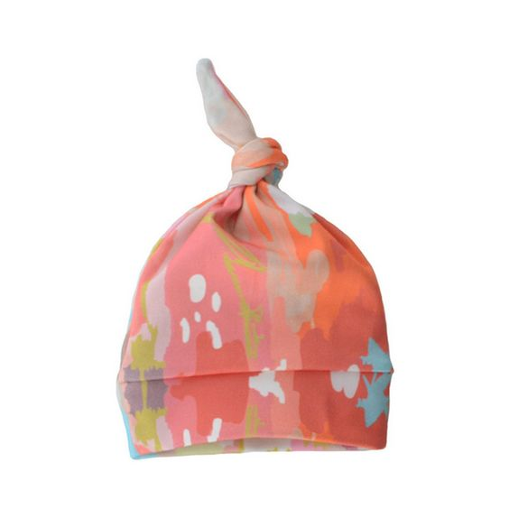 Watercolor Ikat Coral Beanie - fab baby gift! $16 #PNshop
