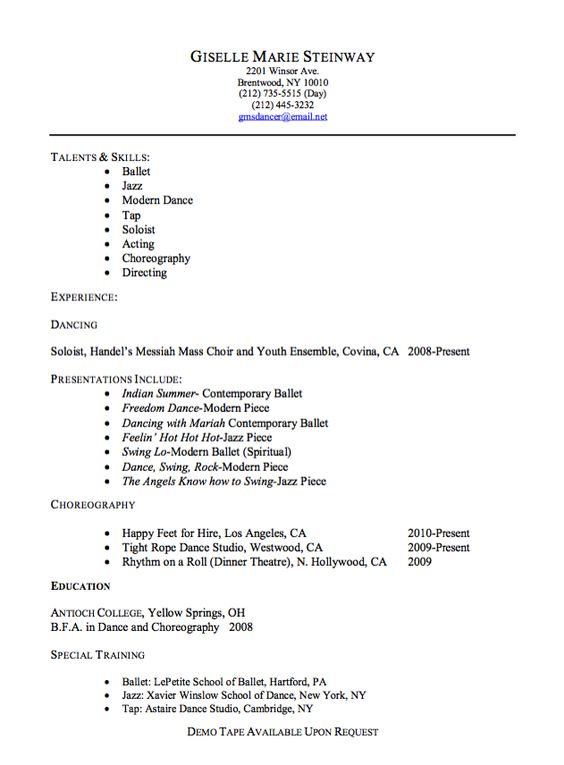 Free Graphics Production Artist Resume Example (resumecompanion - how to write a dance resume