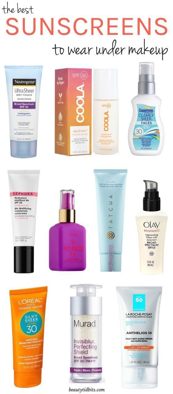 11 Best Face Sunscreens To Wear Under Makeup Face Sunscreen Best Face Products Facial Sunscreen