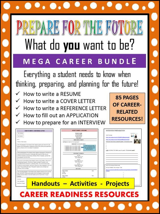 This 85-page student packet bundle provides students with - how to fill out a resume