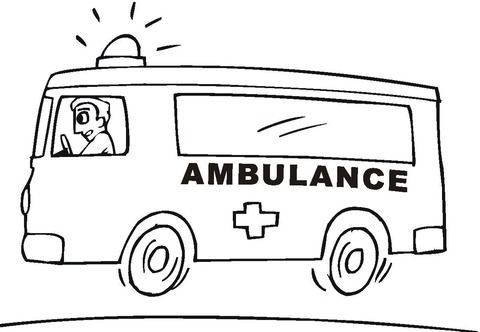 Ambulance Coloring Page In 2020 Truck Coloring Pages Coloring Pages Super Coloring Pages